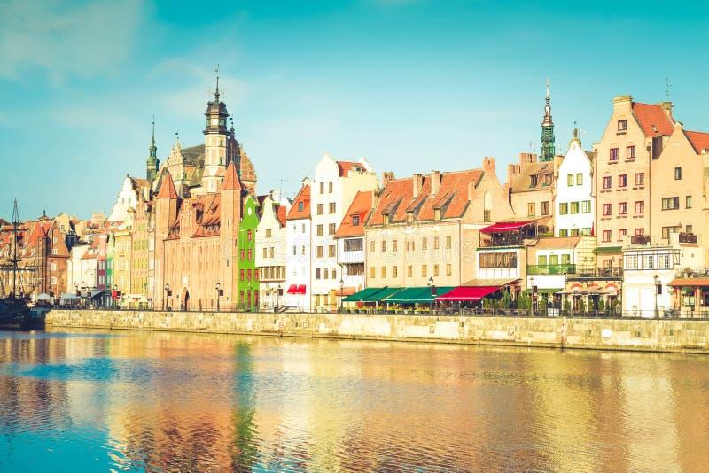 Vieux bord de mer de ville, Danzig photos libres de droits
