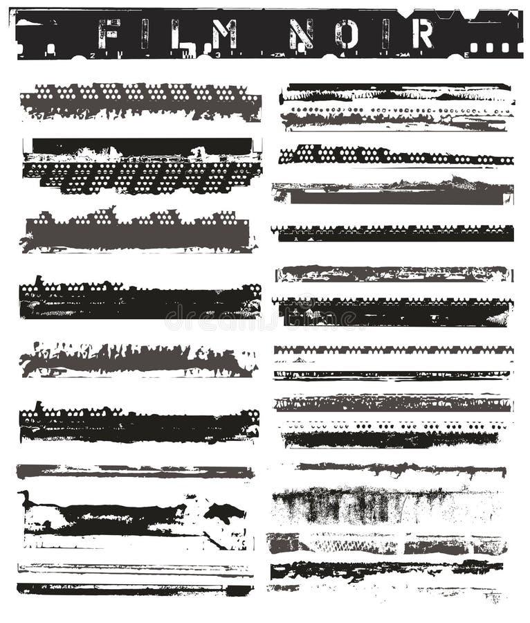 Vieux bords de film illustration stock