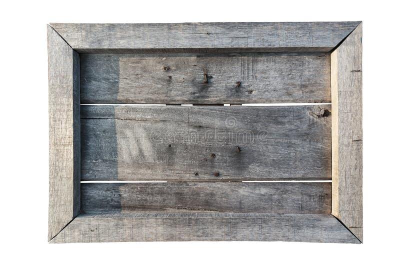 Vieux bouclier en bois (panneau de menu) d'isolement sur le blanc images libres de droits