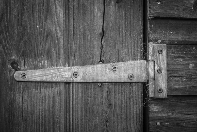 Vieux boulon de porte photo stock