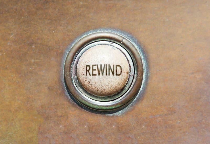 Vieux bouton - rebobinage images stock