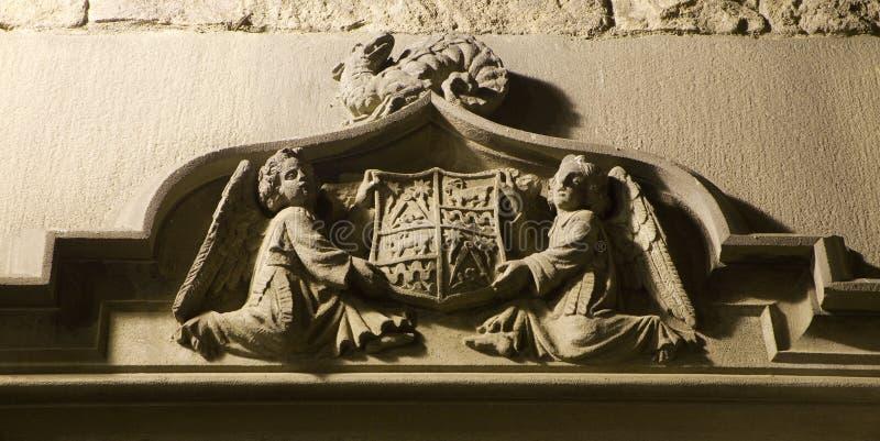 Vieux bras de maison gothique - Barcelone photo stock