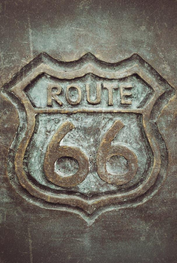 Vieux bronze de connexion de l'itinéraire 66 photo libre de droits