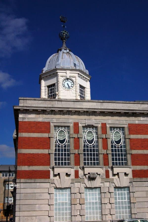 Vieux bureaux de panneau de port, Southampton images stock