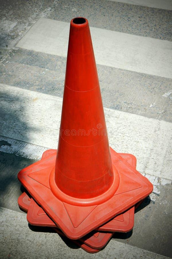 Vieux cône de circulation de groupe image stock