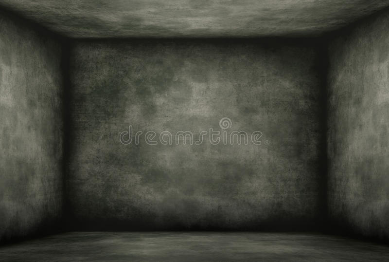 Vieux cabinet noir moisi illustration libre de droits