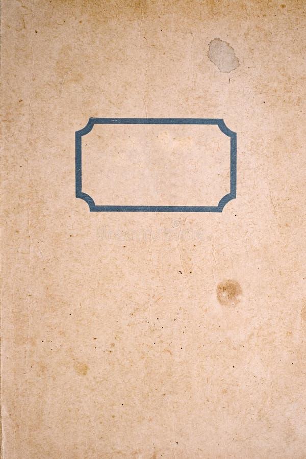 Vieux cache de cahier photo libre de droits