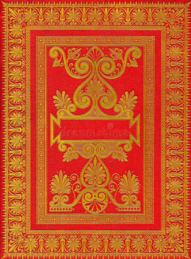 Vieux cache de livre rouge antique images libres de droits