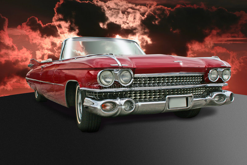 Vieux Cadillac image stock
