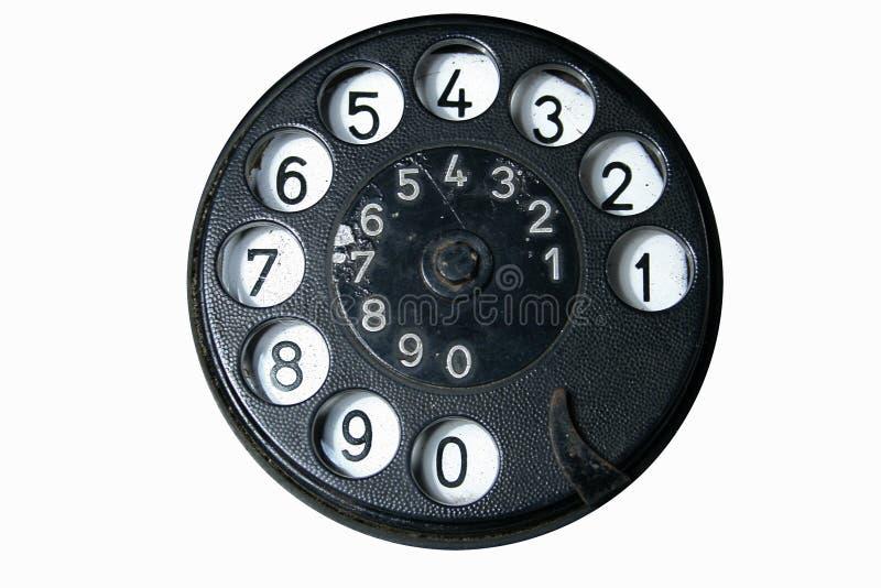 Vieux cadran de téléphone photos stock