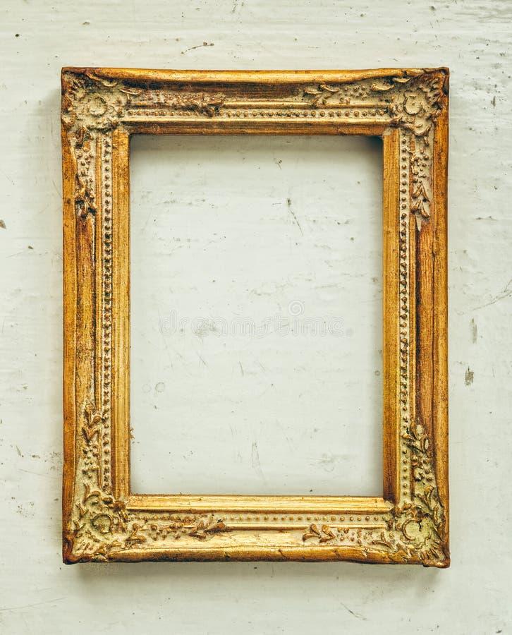 Vieux cadre baroque d'or image libre de droits