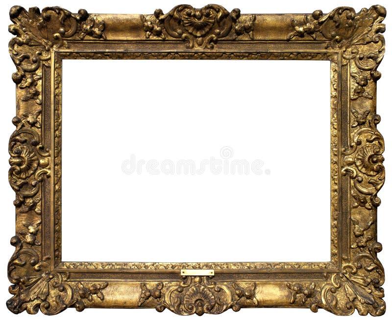 Vieux cadre baroque d'or photographie stock libre de droits