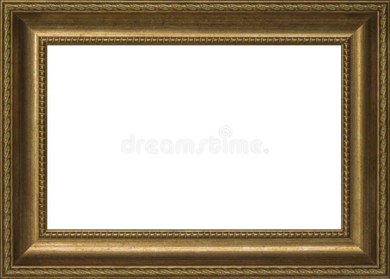 Vieux cadre d'or pour la peinture photo stock