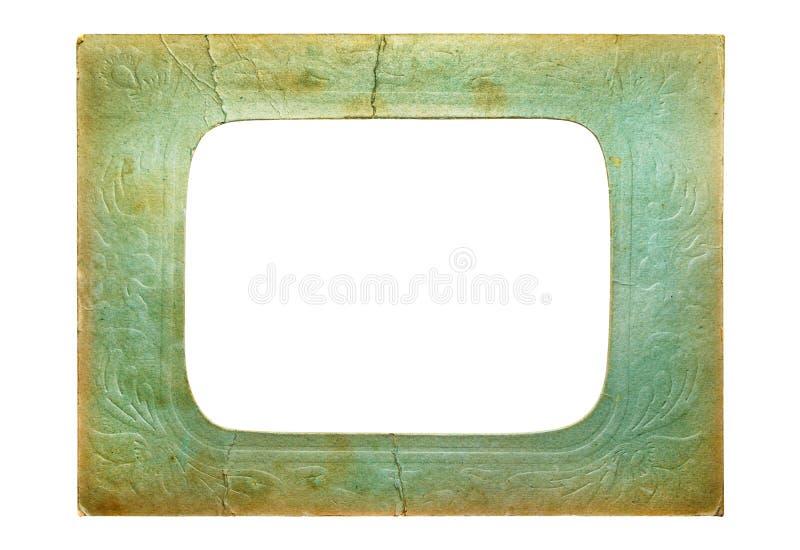 Vieux cadre de photo de carton photographie stock