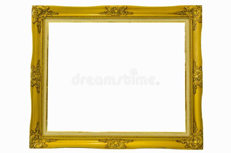 Vieux cadre de tableau sur un fond blanc image libre de droits