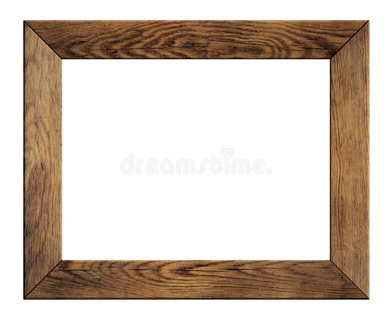 Vieux cadre en bois d'isolement images libres de droits
