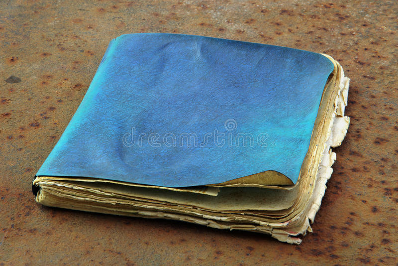 Vieux cahier photographie stock