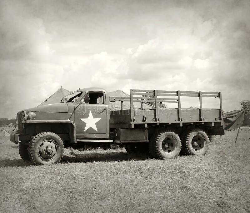 Vieux camion d'armée image libre de droits