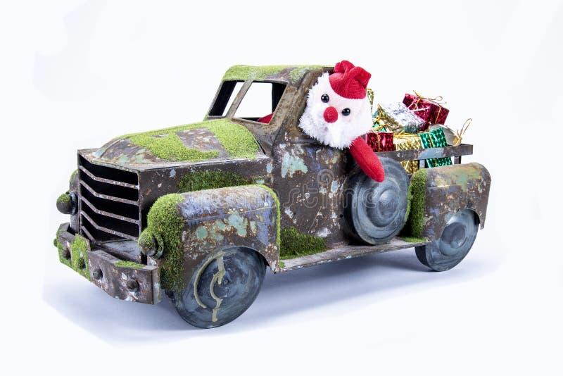 Vieux camion de jouet de cru photographie stock