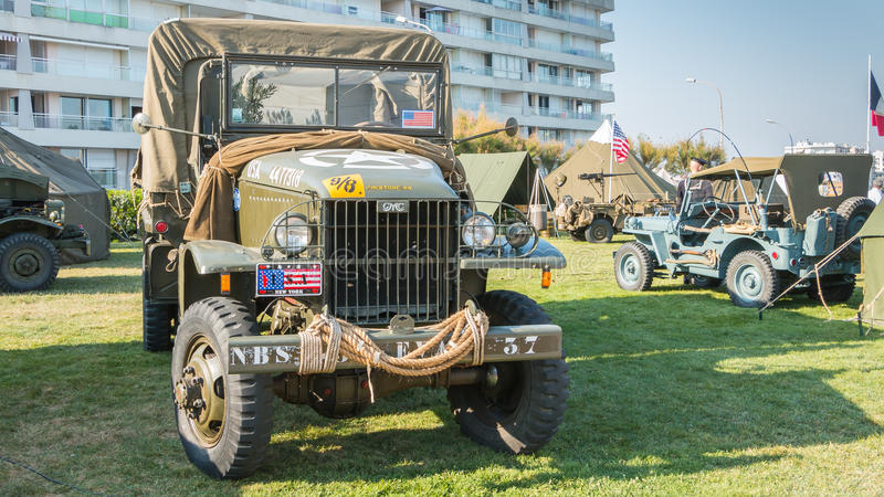 Vieux camion de l'armée américaine photos libres de droits