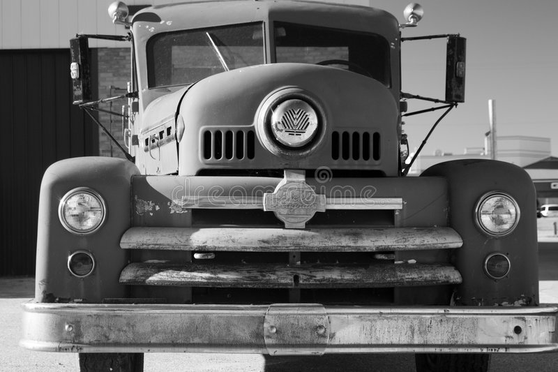 Vieux camion de pompiers photo stock