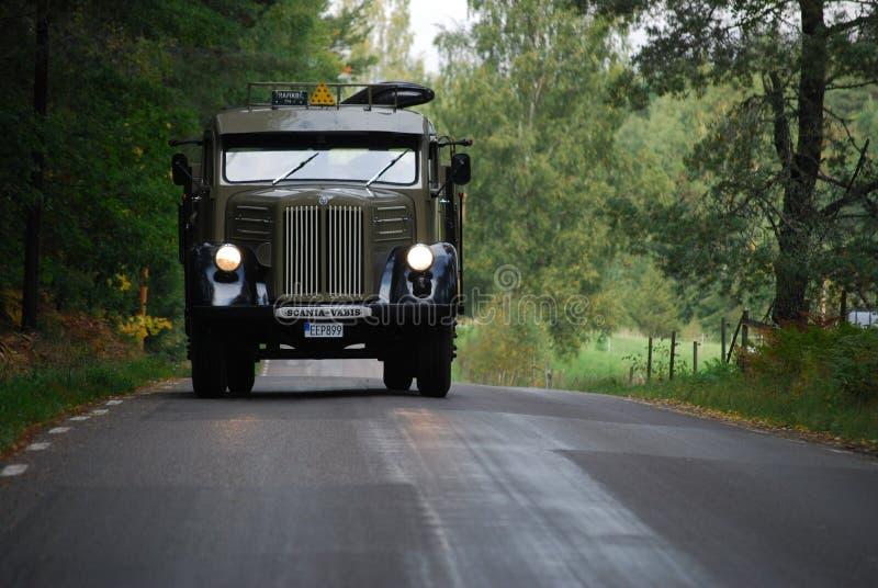 Vieux camion 1957 de Scania photos libres de droits