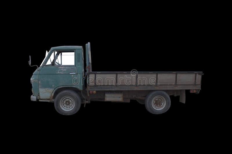 Vieux camion pick-up vert image libre de droits