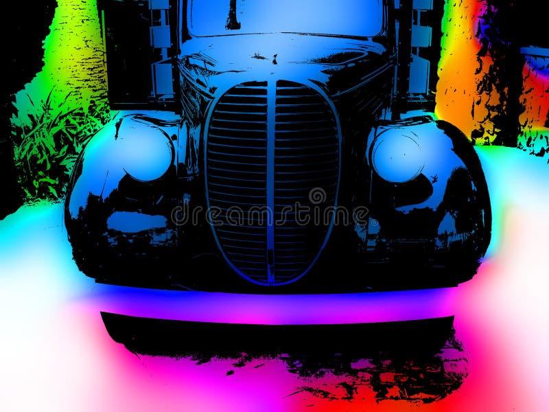 Vieux camion vibrant illustration libre de droits