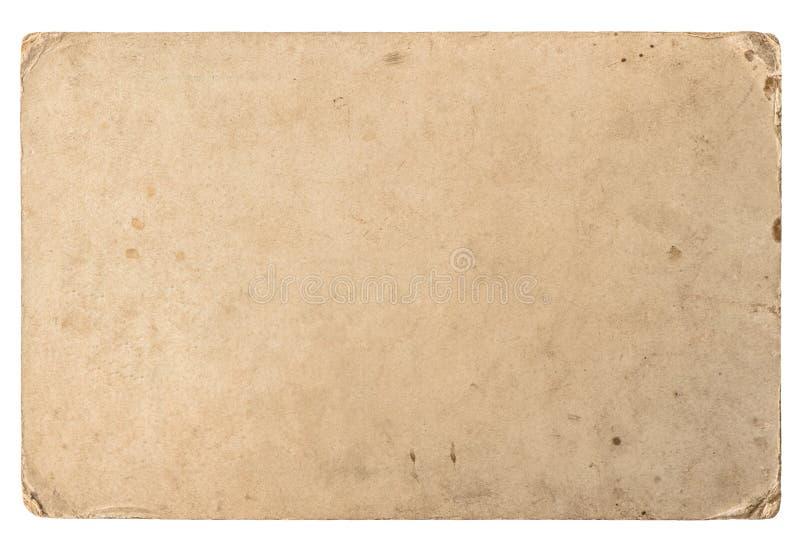 Vieux carton avec des bords Texture de papier sale de vintage images libres de droits
