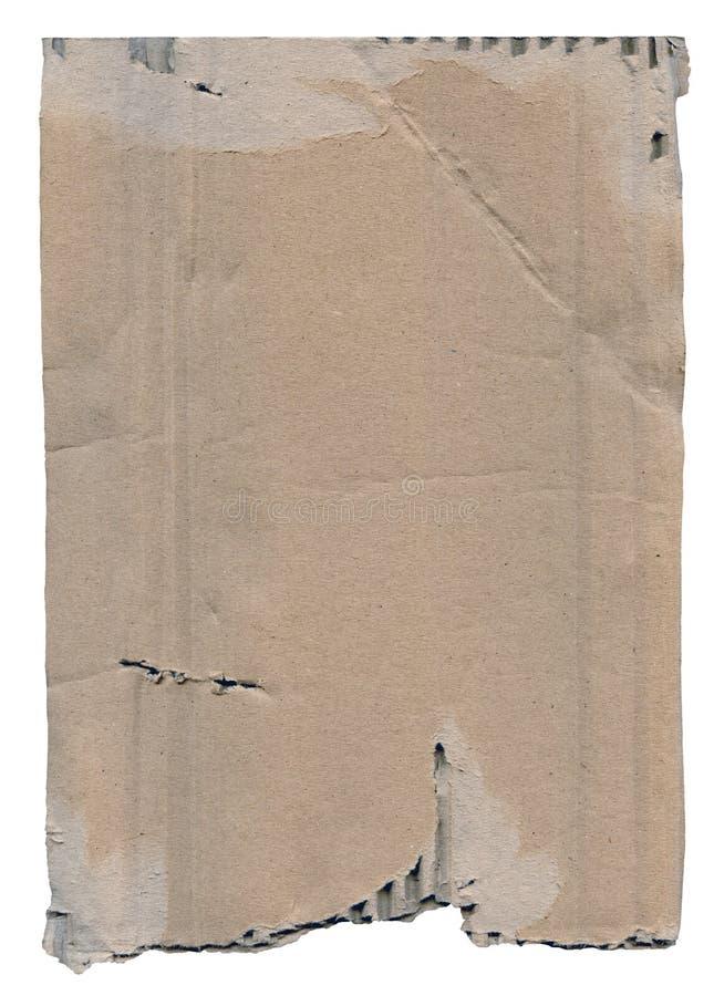 Vieux carton d'isolement images libres de droits
