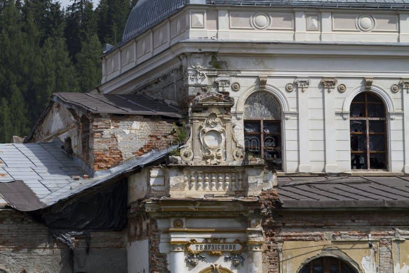 Vieux casino laissé le monument sans restriction et vieux photographie stock libre de droits