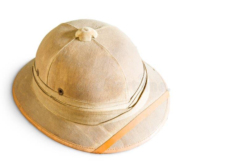 Vieux casque de moelle photo libre de droits