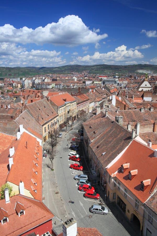 Vieux centre de la ville de Sibiu photos libres de droits