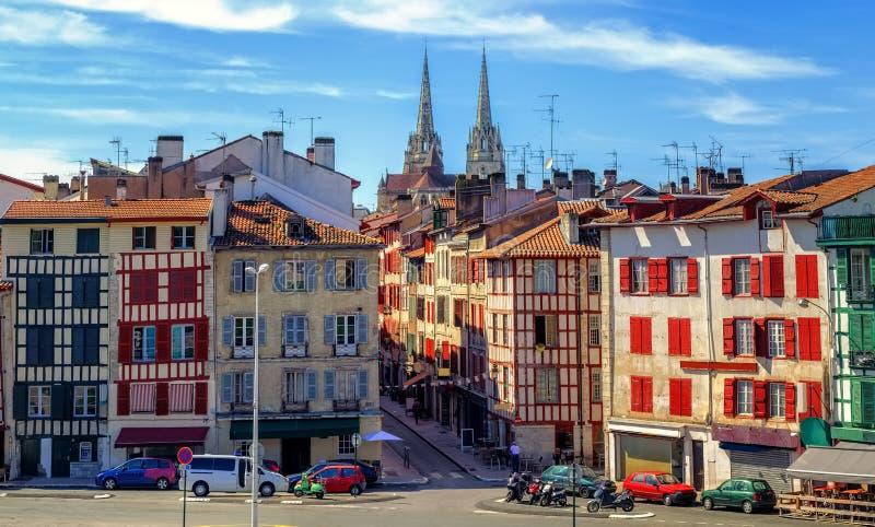 Vieux centre de ville de Bayonne, France photographie stock libre de droits