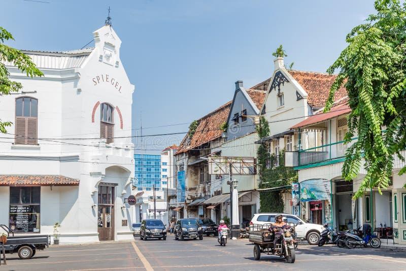 Vieux centre de ville de Semarang, Java occidental, Indonésie photographie stock