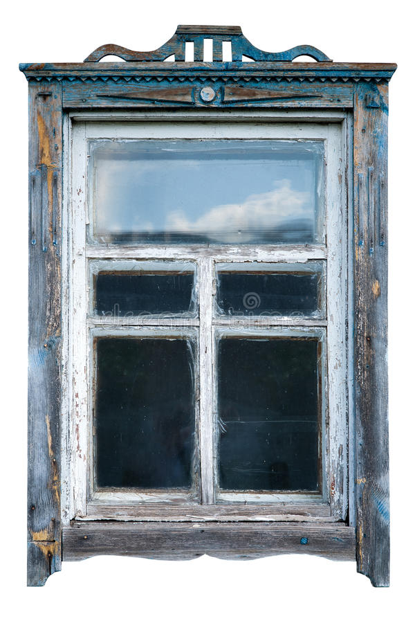 Vieux châssis de fenêtre photographie stock