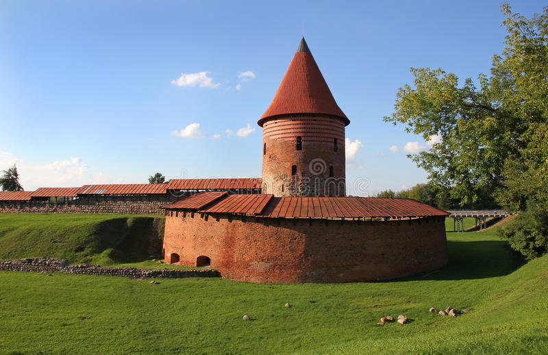 Vieux château à Kaunas, Lithuanie. image libre de droits
