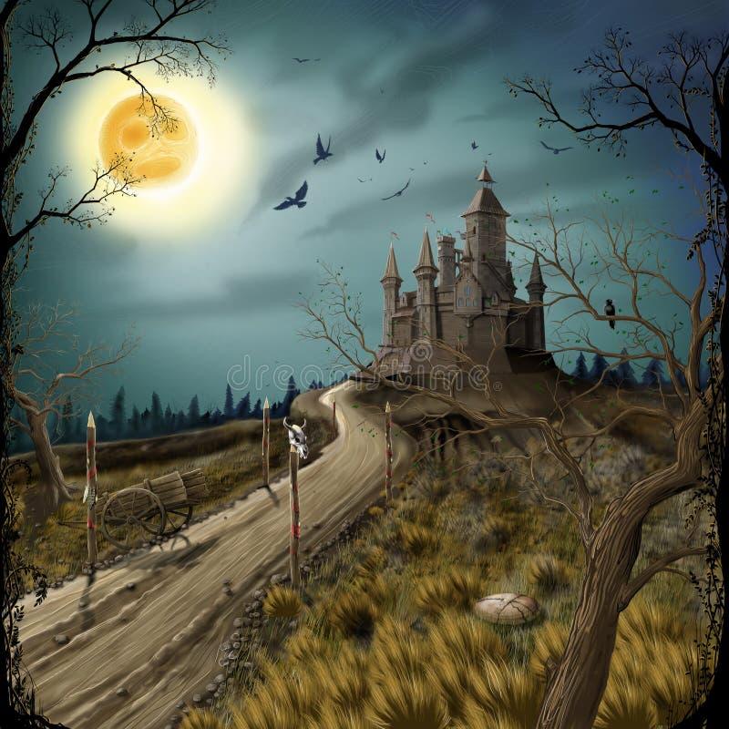 Vieux château illustration libre de droits