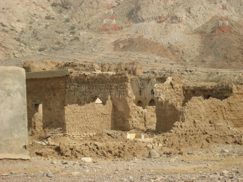 Vieux château au Sultanat d'Oman photographie stock