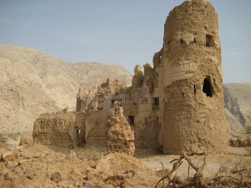 Vieux château au Sultanat d'Oman image libre de droits