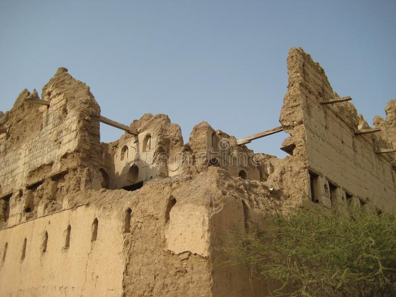 Vieux château au Sultanat d'Oman photo libre de droits