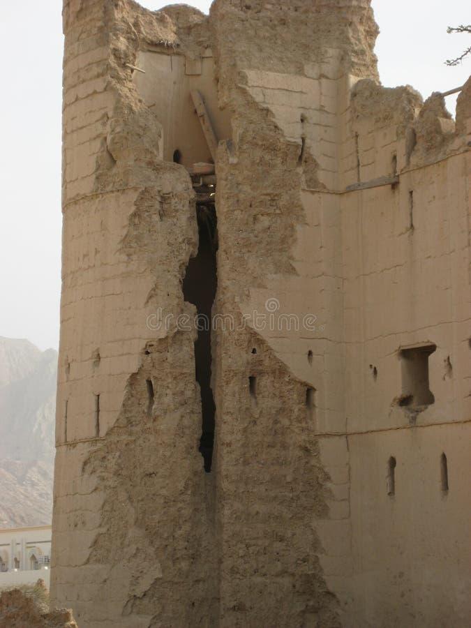 Vieux château au Sultanat d'Oman photo stock
