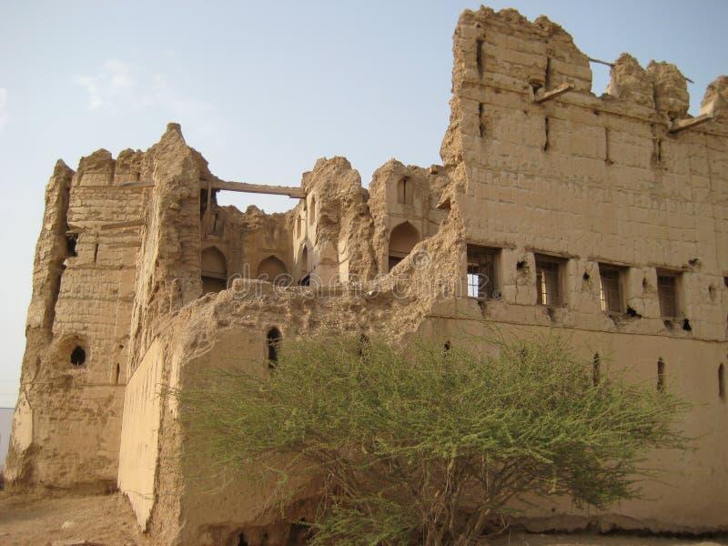 Vieux château au Sultanat d'Oman image stock