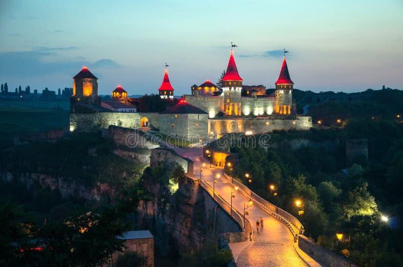 Vieux château dans Kamenets-Podolsky Ukraine photo stock