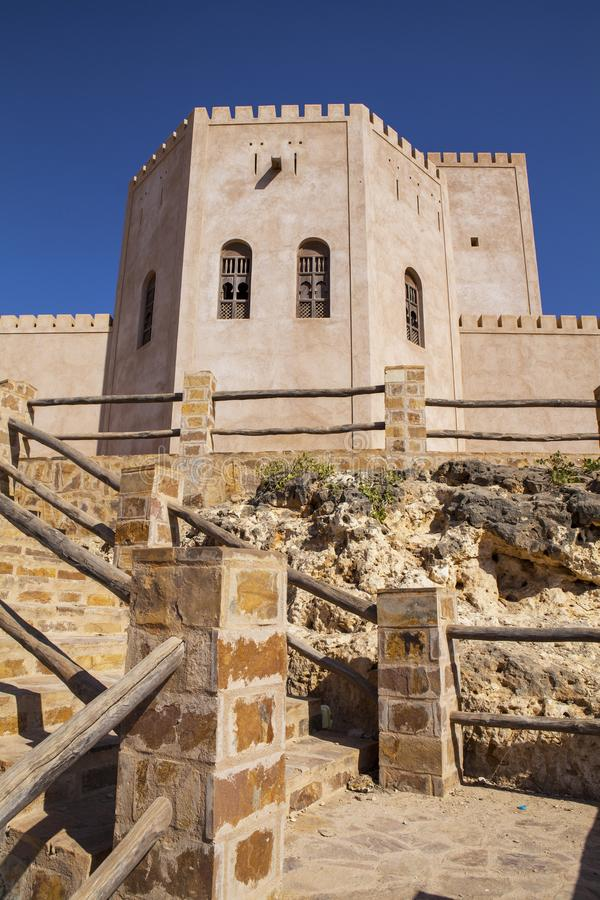Vieux château dans Taqah photo stock