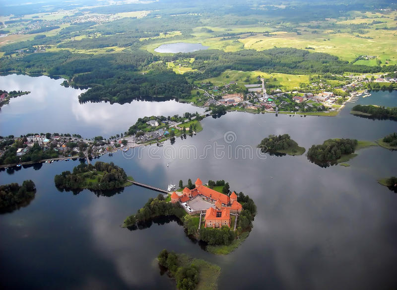 Vieux château de Trakai photo stock