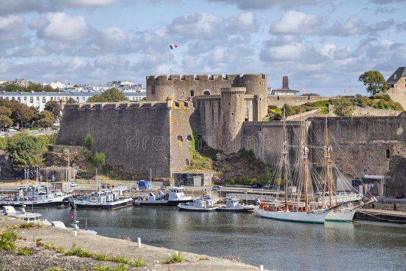 Vieux château de ville Brest, la Bretagne photographie stock libre de droits