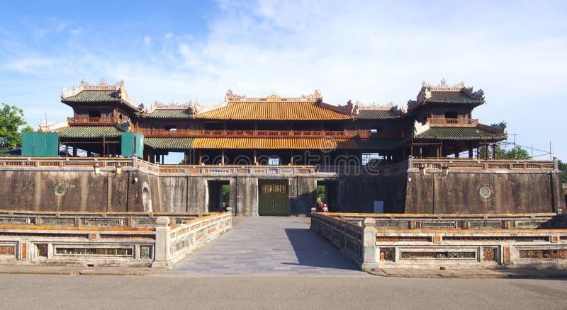 Vieux château de ville impériale en Hue Vietnam photo stock