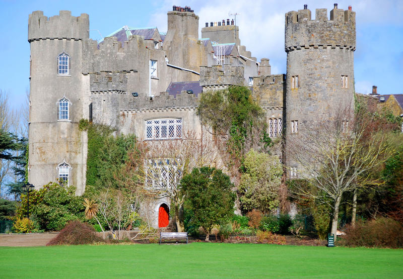 Vieux château Dublin, Irlande photo stock