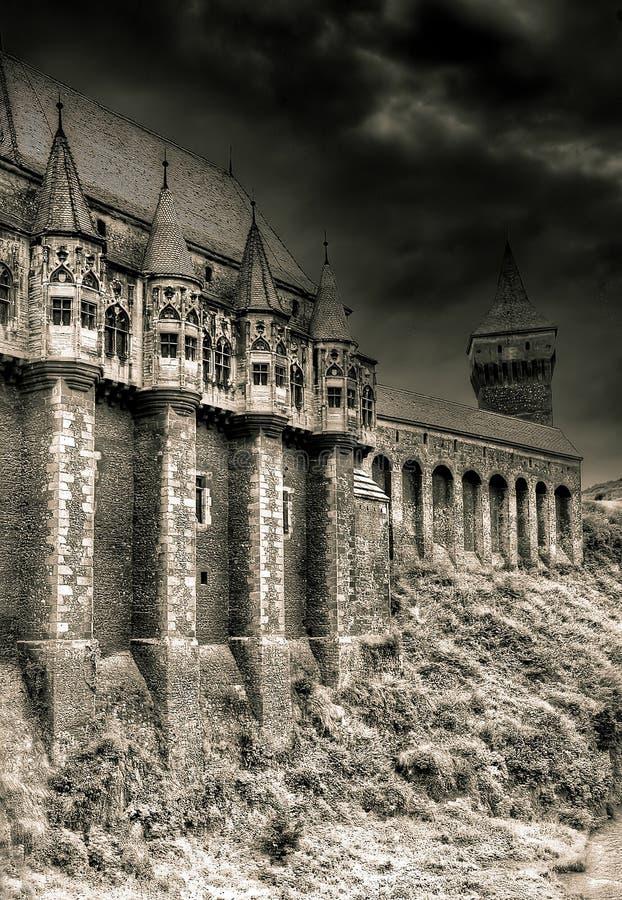 Vieux château hanté photo stock